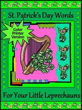 St. Patrick's Day Spelling Activities & Words Bundle