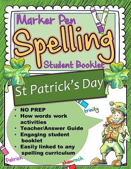 St Patrick's Day Spelling Booklet US Version
