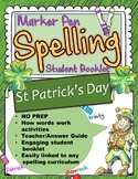 St Patrick's Day Spelling Booklet UK/AUS Version