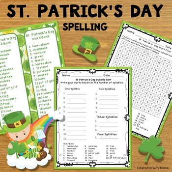 St Patrick's Day Spelling Activities Packet - Print and Go