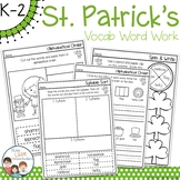 St Patrick's Day Spelling Word Work Pack - No Prep - Dista