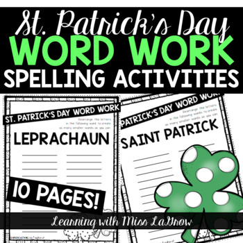 St. Patrick's Day Spelling Word Work Scramble Activities Word Creator