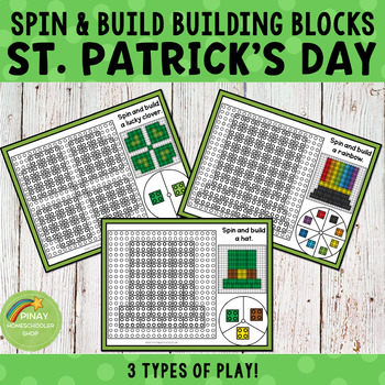 St. Patrick's Day Spin and Build Building Blocks