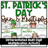 St. Patrick's Day Multi Digit Multiplication Spin and Multiply
