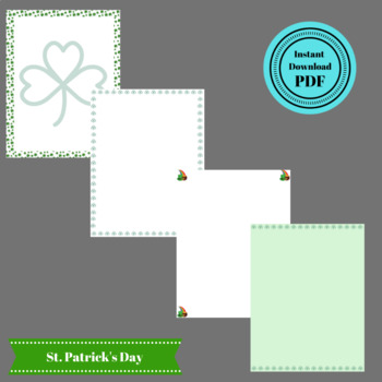 St Patrick's Day Stationary