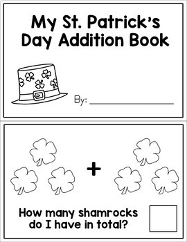 St. Patrick's Day Interactive Math Books - Addition and Subtraction