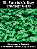 St. Patrick's Day Student Gifts- Coupon Book, Homework Pas