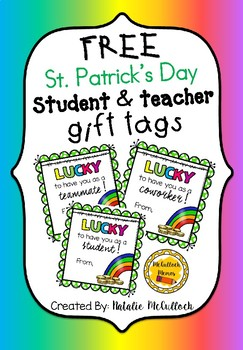 St. Patrick's Day Student/Teacher Gift Tags