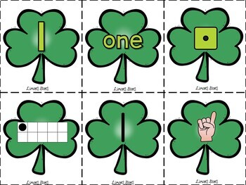 St. Patrick's Day Subitizing Cards 1-10