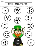 St. Patrick's Day Subitizing Math Roll and Color Game