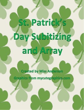 St. Patrick's Day Subitizing and Array