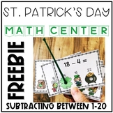 St. Patrick's Day Subtracting Interactive Task Cards