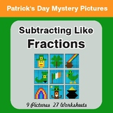 St. Patrick's Day: Subtracting Like Fractions - Color-By-N