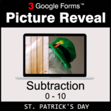 St. Patrick's Day: Subtraction 0-10 - Google Forms Math  