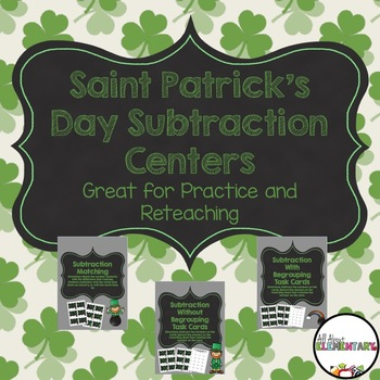 St. Patrick's Day Subtraction Centers
