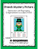 St. Patrick's Day Subtraction (French MATH - Mystery Picture)