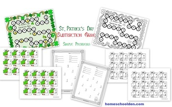 St. Patrick's Day Subtraction Games & Worksheets