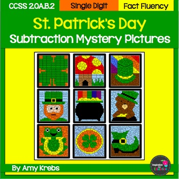 St. Patrick's Day Subtraction Mystery Pictures