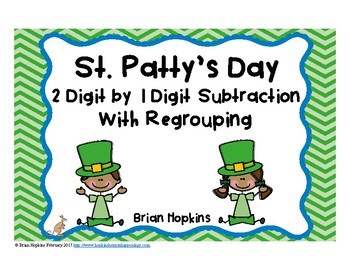 St. Patrick's Day Subtraction Regrouping Task Cards