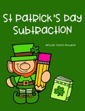 St. Patrick's Day Subtraction Worksheet - Mixed Regrouping