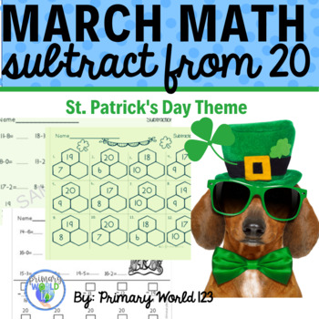 St. Patrick's Day Subtraction from 20