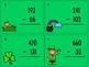 St. Patrick's Day Subtraction with Regrouping Task Cards