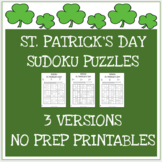 St. Patrick's Day Sudoku Games