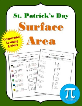 St. Patrick's Day Surface Area Coloring Activity