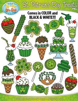 St. Patrick's Day Sweet Treats Clipart {Zip-A-Dee-Doo-Dah Designs}