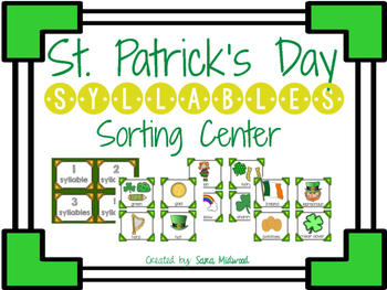 St. Patrick's Day Syllables Center