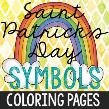 St. Patrick's Day Symbols Coloring Pages, Book, Holiday Ac