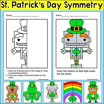 St. Patrick's Day Math Symmetry Activity