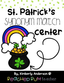 St. Patrick's Day - Pots 'O Gold and Rainbows: Synonyms Match
