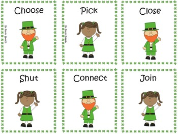 St. Patrick's Day Synonym and Antonym Games