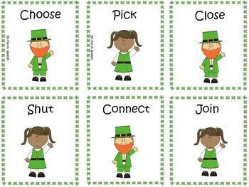 St. Patrick's Day Synonym and Antonym Card Games