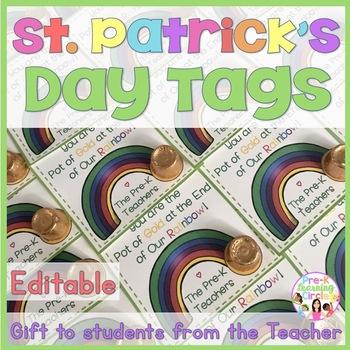 St. Patrick's Day Tags(To Teacher to the Students)