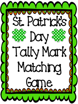 St. Patrick's Day Tally Mark Task Cards