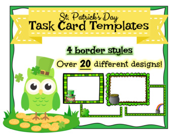 St. Patrick's Day Task Card Templates