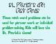 St. Patrick's Day Task Cards - Math Problem Solving
