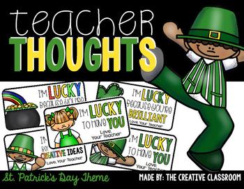 St. Patrick's Day Teacher Notes