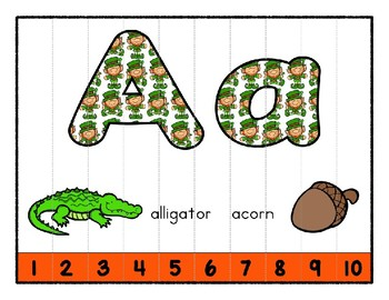 St. Patrick's Day ~ Teaching by the Letter Holiday Strip Number Puzzles