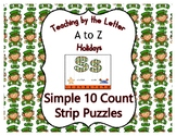 St. Patrick's Day ~ Teaching by the Letter Holiday Strip N