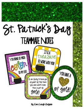 St. Patrick's Day Teammate Notes