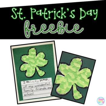 St. Patrick's Day Tear Art Freebie