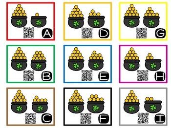 St. Patrick's Day Teen Number & Long Vowel QR Code Task Cards