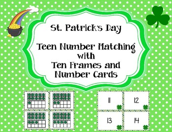 St. Patrick's Day Teen Number Matching