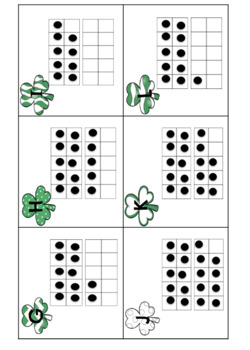 St. Patrick's Day Teen Number Scoot with Ten Frames