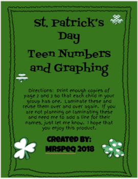 St. Patrick's Day Teen Number Ten Frames and Graphing