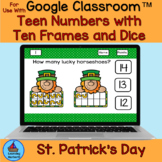 St. Patrick's Day Teen Numbers with Ten Frames and Dice fo
