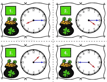St. Patrick's Day Telling Time